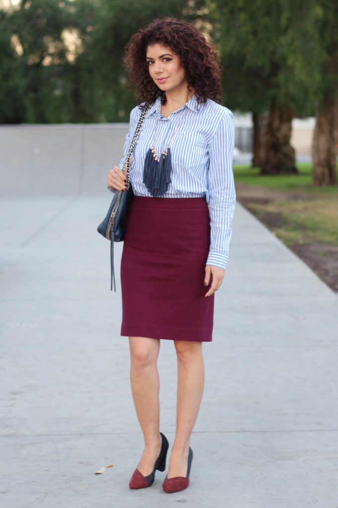 Combine Baby Blue And Burgundy For An Unexpected Color