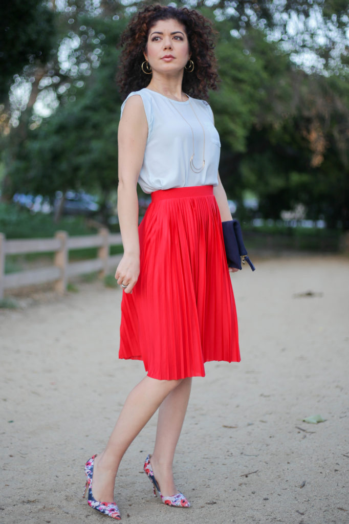 Color Inspiration Light Blue and Red Outfits to Try Now