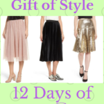 12 Days of Skirtmas: Halogen Velvet Pleated Midi Skirt {Day 1}
